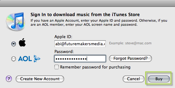 My itunes account