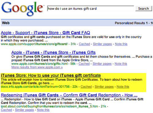 How to use an iTunes gift card